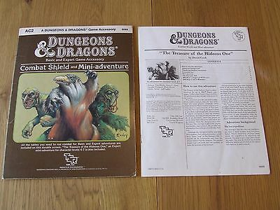 Dungeons Dragons Accessory AC2 Combat Shield 9099 TSR Original 1984 edition