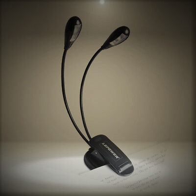 LEPOWER Super Bright Music Stand Light/ Book Reading Light/ USB and Battery Oper