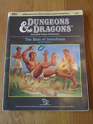 Dungeons Dragons Immortal IM3 TSR 9207 Best of Intentions Adventure