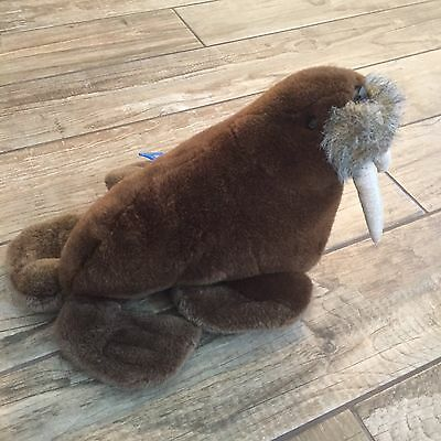 SEAWORLD Brown WALRUS Plush Stuffed Animal Vintage Collectible ORIGINAL TAG! C1