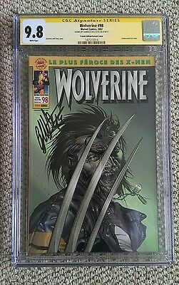 Wolverine #98 Cgc Ss 9.8 Signed Dell'otto, Rare French Gel Embossed Variant.