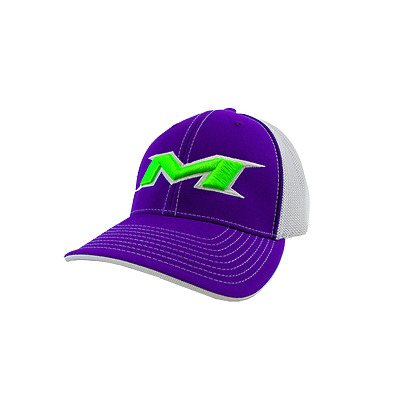 Miken Hat by Pacific (404M) PURPLE/WHITE/PURPLE/NEON GREEN LG/XL(7 3/8- 8)