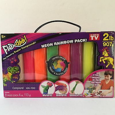 Flex-Ohh Modeling Clay Non Toxic Kid Safe Better Than Play-Doh Never Dries Out
