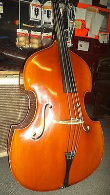 Vintage 1/2 Size Double Bass. All Solid Wood.