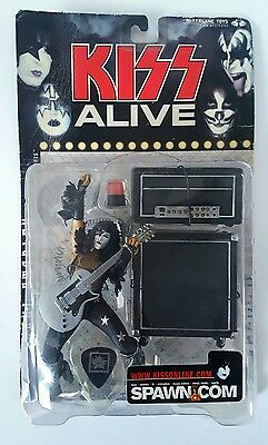 Paul Stanley Kiss Alive Starchild boxed action figure unopened, guitar, amp