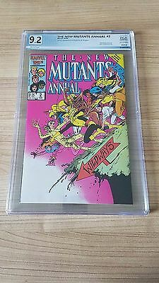 1986 New Mutants Annual 2 New Label Pgx 9.2 1St Us App Psylocke & Meggan Wht Pgs