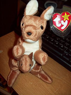 Ty Beanie Babies Collection  Pouch The Kangeroodate Of Birth 11-06-1996 Retired
