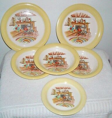 Homer Laughlin Eggshell Colonial Kitchen Bowls Dinner Plate 6 Pieces