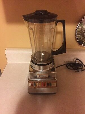 VINTAGE Montgomery Wards Signature Blender Mixer 86-45835A-76X Chrome