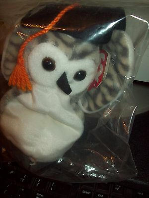 Ty Beanie Babies Collection  Wiser The Owl Dateof Birth 06-04-1999 Retired