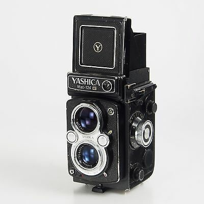 >Yashica MAT-124G TLR 120 Film Camera Yashinon 80 MM f3.5 for Parts and Repair