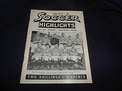 Soccer Highlights Magazine 1947-48 (135 Photos) - Rare Special Edition