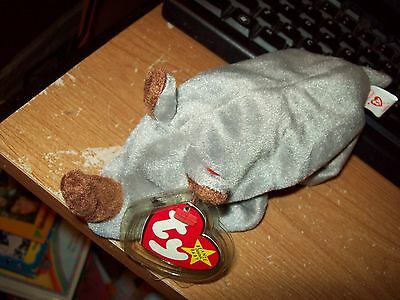 Ty Beanie Babies Collection Spike The Rhino Date Of Birth 08-13-1996 Retired