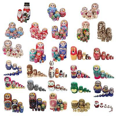 Unique Russian Nesting Doll Babushka Matryoshka Hand Painted 5/6/7/10 Dolls Set