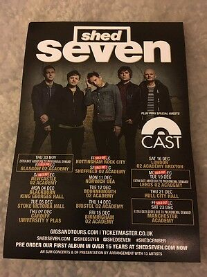 Shed Seven 2017 Tour Promo Gig Concert A5 Flyer - A must for any Fan!!
