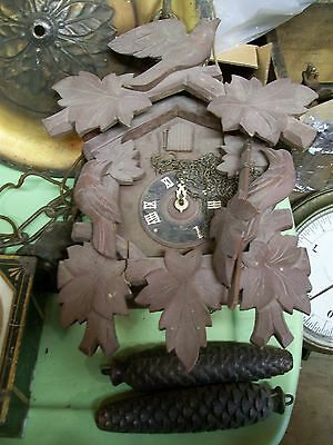 Antique Black Forest Made In Germany Heco 8 Day Cuckoo Clock Henry Coehler Co