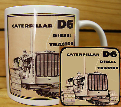 300ml COFFEE MUG WITH MATCHING COASTER - CATERPILLAR D6