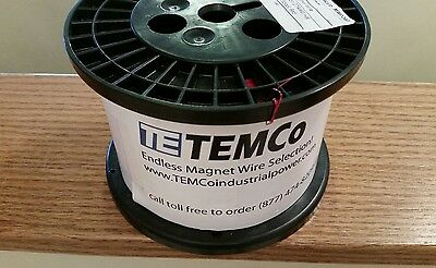 Temco Copper magnet wire, 27 AWG HB 155 C *7.5LBS* RED *NEW*