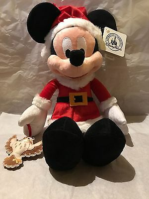 Disney Parks Xmas Mickey Mouse Plush Toy - Sold Out - Limited -  NEW/WITH TAGS