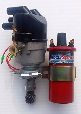 43D Performance Electronic Distributor & 3 Ohm Sports Coil for Cortina & Escort