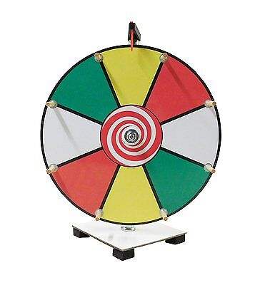 Prize Wheel 12 inch Customizable Color Face Classic Wooden Peg Design