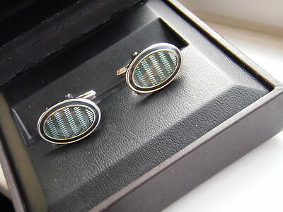 Dunhill cufflinks, solid silver
