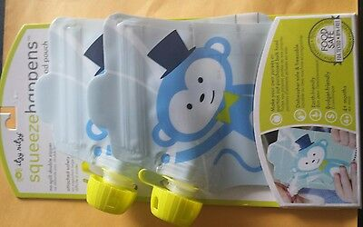 Itzy Ritzy Squeeze Happens - Reusable Food Pouch - 2 Pack - New