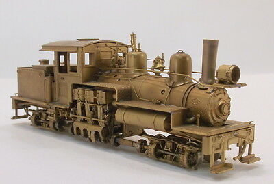 HOn3 BRASS PFM GEARED LOGGING 2 TRUCK 3 CYLINDER  COWICHAN RR SHAY UNPAINTED