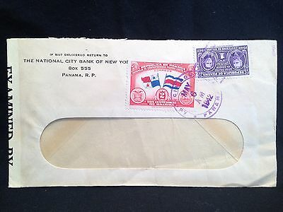 Panama 1942 WWII Censored Cover National City Bank of NY American Bank Note Co.