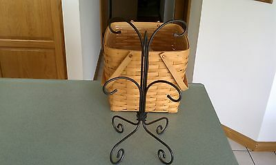 Longaberger Wrought Iron Mug Coffee cup Tree Stand Rack Holds 6  NEW