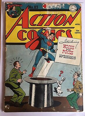 Action comics 83 1945 1st Appearance Hocus & Pocus