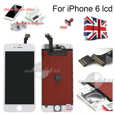 """For iPhone 6 4.7"""" White  LCD Display Touch Screen Digitizer Assembly Replacemen"""