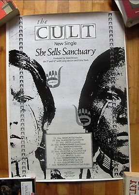 The Cult She Sells Sanctuary Vintage Poster 1985