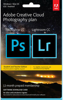 Adobe - Creative Cloud Photography Plan - Student & Teacher Ed. - 12 Month Me...