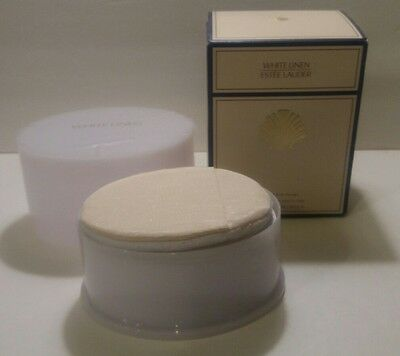 Estee Lauder White Linen Perfumed Body Powder 3.5 oz New In Box w/ Puff & Screen
