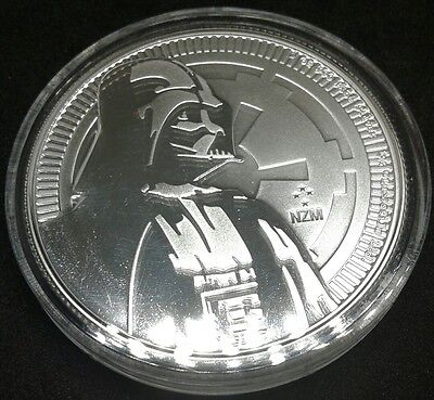 2017 1 oz Niue Silver Coin $2 Star Wars Darth Vader BU 250k Minted w/ Capsule
