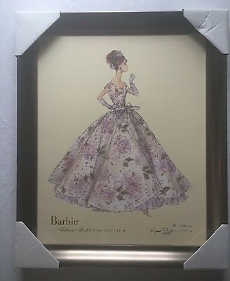Robert Best BARBIE Print VIOLETTE; Limited Edition 1768/5000 with COA