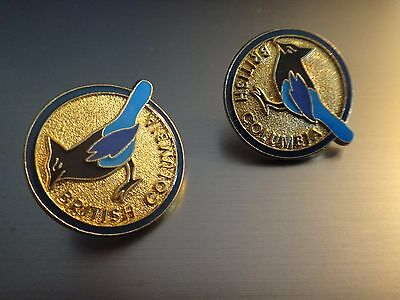 Province Of British Columbia Canada Steller's Jay Provincial Bird Blue Black Pin