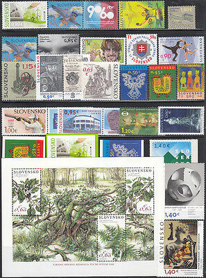 SLOVAKIA MNH Complete Year set 2016 25 Stamps+ 1 S/S