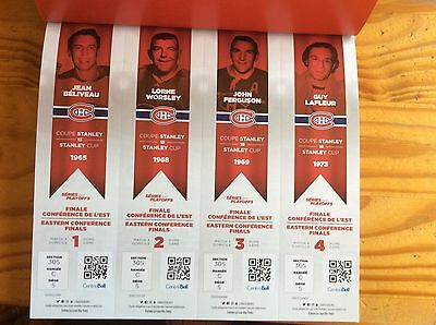 2017 Montreal Canadiens Nhl Playoff Ticket Lorne Wosley