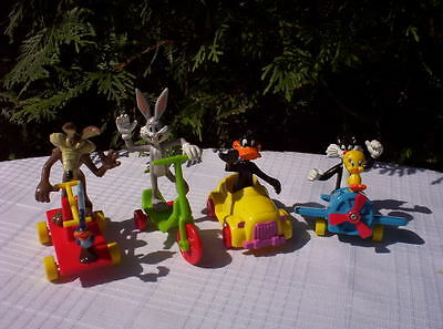 1989 McDonalds LOONEY TUNES set 4 FIGURES TOYS Bugs Bunny ONLY IN CANADA