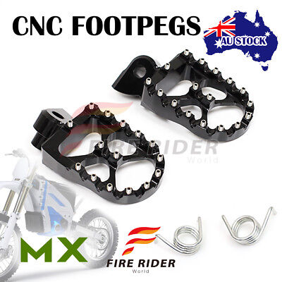 For Husqvarna TE 300 14-16 14 15 16 FRW Dirt Front Black Foot Pegs For
