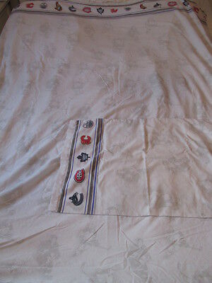 Vintage Twin FLAT + PILLOW CASE SHEET NHL HOCKEY CANUCKS CANADIENS LEAFS OILERS