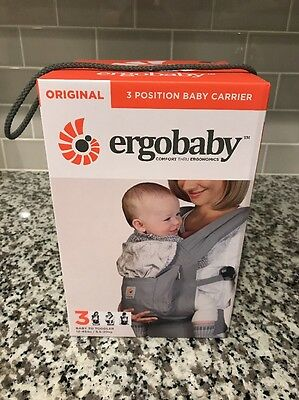 Ergobaby Three Position Baby Carrier Original Ergo Grey/Starburst - New In Box
