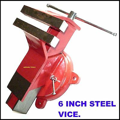 Vice Steel 6 Inch Wide Jaws  Bench Type With Anvil- New In Box