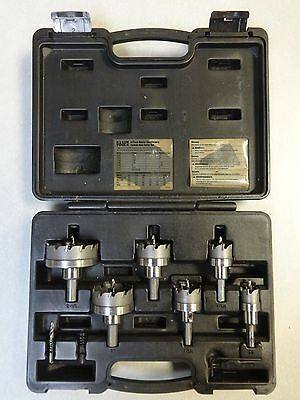 KLEIN TOOLS 31873 8-Piece Master Electrician's Carbide Hole Cutter Set