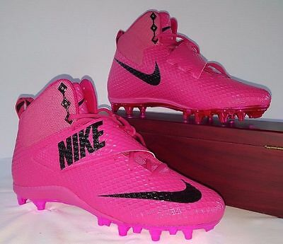 Nike Lunarbeast Strike Pro Td Bca Football Cleats Sz 11.5 Pink Black 884802-606