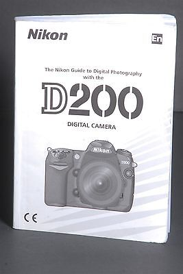 Nikon Genuine D200 Camera Instruction Book / Manual / User Guide
