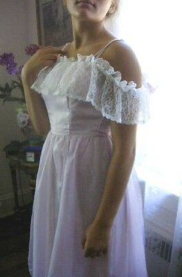 HALLOWEEN COSTUME, GOWN, SOUTHERN BELLE, PRINCESS, LAVENDER, LACE, size 8