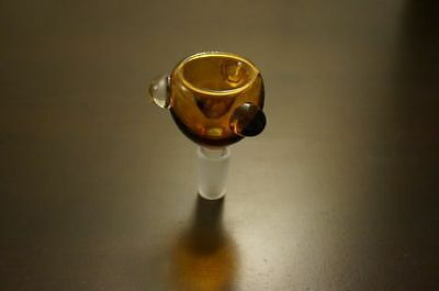 Lab Glassware glass on glass downstem bowl 18mm - Amber